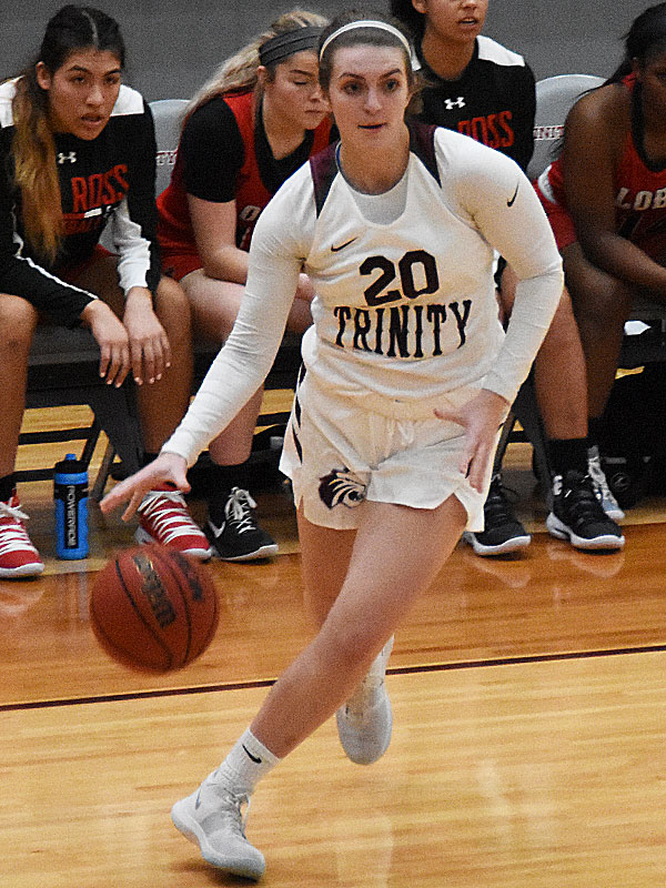 Mallory Lancaster. The Trinity women's basketball team extended its record to 4-1 with a 79-62 victory over Sul Ross State on Friday at Trinity. - photo by Joe Alexander