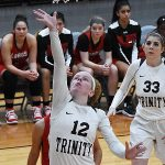 Jackie Layng. The Trinity women's basketball team extended its record to 4-1 with a 79-62 victory over Sul Ross State on Friday at Trinity. - photo by Joe Alexander