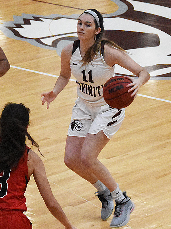 Abbey Wilson. The Trinity women's basketball team extended its record to 4-1 with a 79-62 victory over Sul Ross State on Friday at Trinity. - photo by Joe Alexander