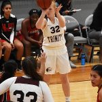 Mary Beth Kindig. The Trinity women's basketball team extended its record to 4-1 with a 79-62 victory over Sul Ross State on Friday at Trinity. - photo by Joe Alexander