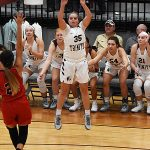 Julia Ackerman. The Trinity women's basketball team extended its record to 4-1 with a 79-62 victory over Sul Ross State on Friday at Trinity. - photo by Joe Alexander