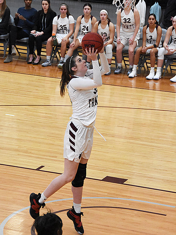 Anna Muller. The Trinity women's basketball team extended its record to 4-1 with a 79-62 victory over Sul Ross State on Friday at Trinity. - photo by Joe Alexander