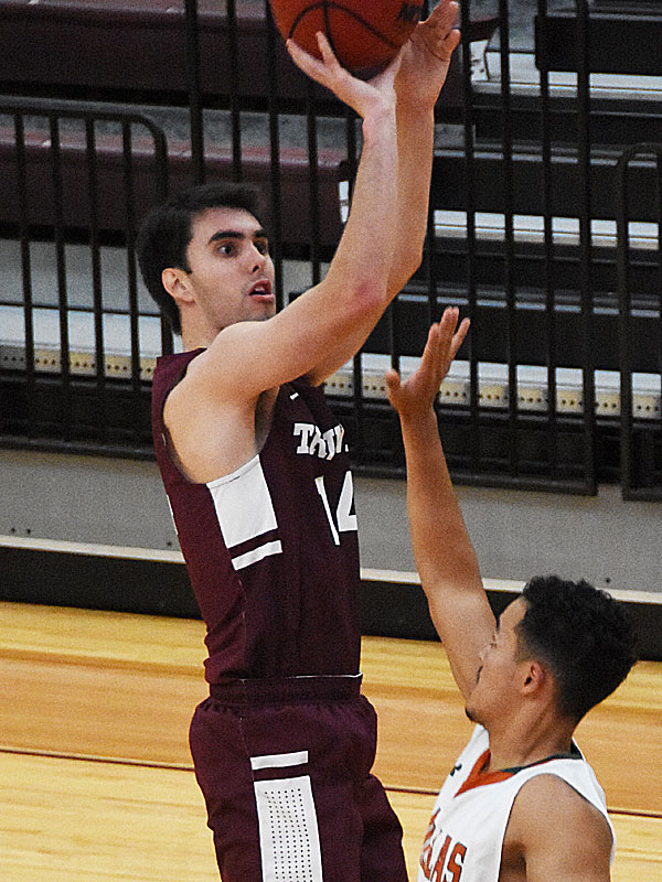 Brooks Mays. UT-Dallas beat the Trinity men's basketball team 78-64 on Sunday, Nov. 25, 2018 at Trinity.