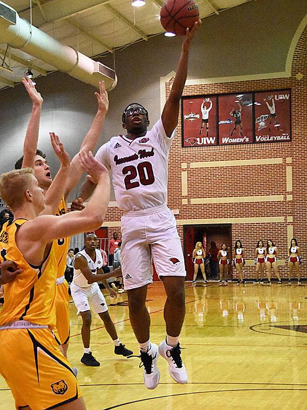 Incarnate Word's Morgan Taylor goes up for a shot against Northern Colorado at the McDermott Center at UIW.
