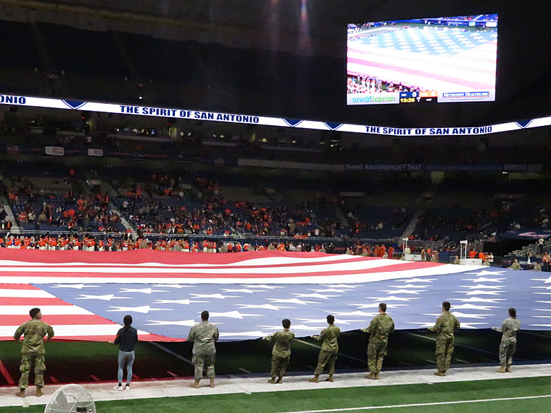 UTSA honored current and former members of the armed services and first responders before the game on Saturday, Nov. 10, at the Alamodome in San Antonio.