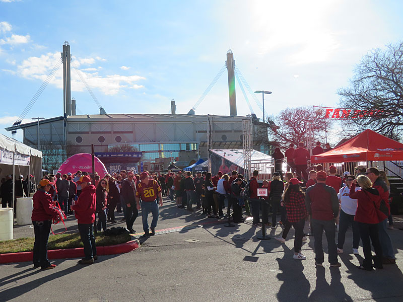 The Valero Alamo Bowl features Washington State against Iowa State. The party started hours before the game with the Fan Zone between Sunset Station and the Alamodome. - photo by Joe Alexander