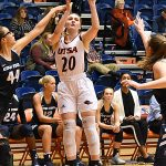 Kourtney Kekec. The Utah State women's basketball team beat UTSA 62-56 on Wednesday, Dec. 5, 2018, at the UTSA Convocation Center. - photo by Joe Alexander