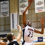 Tija Hawkins. The Utah State women's basketball team beat UTSA 62-56 on Wednesday, Dec. 5, 2018, at the UTSA Convocation Center. - photo by Joe Alexander