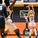 Deja Cousin. The Utah State women's basketball team beat UTSA 62-56 on Wednesday, Dec. 5, 2018, at the UTSA Convocation Center. - photo by Joe Alexander