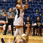 Marie Benson. The Utah State women's basketball team beat UTSA 62-56 on Wednesday, Dec. 5, 2018, at the UTSA Convocation Center. - photo by Joe Alexander