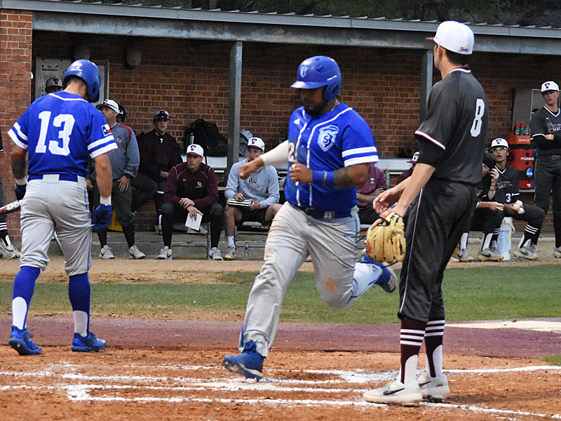 OLLU's Robert Lopez scored the first run of the game. - photo by Joe Alexander