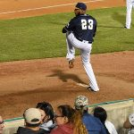 Brewers pitcher Jeremy Jeffress, in a rehab assignment with the Missions, pitches against the Nashville Sounds on April 13 at Wolff Stadium. - photo by Joe Alexander