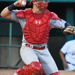 St. Louis Cardinals prospect and Memphis Redbirds catcher Andrew Knizner playing against the Missions at Wolff Stadium on Tuesday, April 9, 2019. - photo by Joe Alexander