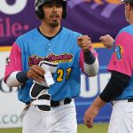 The Missions in their Flying Chanclas de San Antonio uniforms on Thursday against the Memphis Redbirds. - photo by Joe Alexander