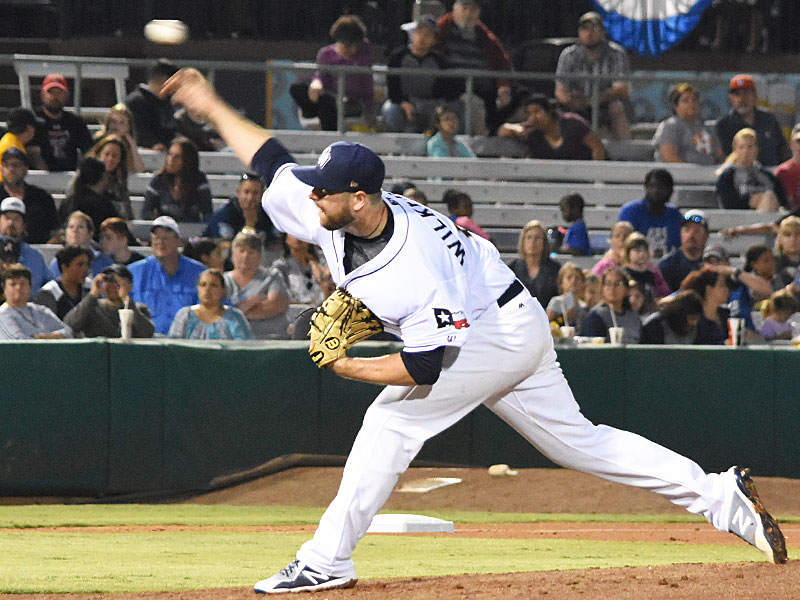 Missions pitcher Aaron Wilkerson shut out the Nashville Sounds for 6 1/3 innings on April 12 at Wolff Stadium. - photo by Joe Alexander