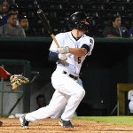 Cory Spangenberg leads off the bottom of the ninth with a double in the Missions' 6-5 victory over the Memphis Redbirds on Wednesday at Wolff Stadium. - photo by Joe Alexander