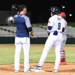 Corey Ray draws a walk in the ninth inning in the Missions' 6-5 victory over the Memphis Redbirds on Wednesday at Wolff Stadium. - photo by Joe Alexander