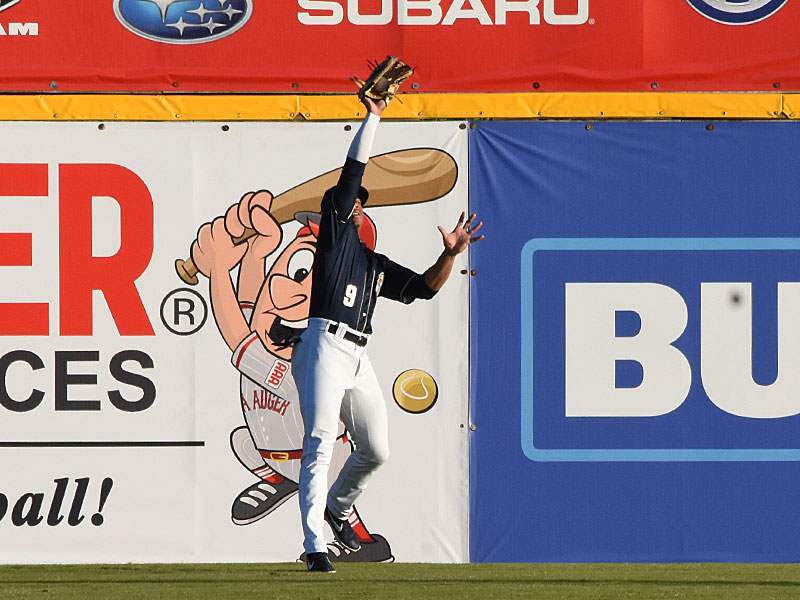 Corey Ray. The Missions beat the Sounds 5-3 Saturday at Wolff Stadium. - photo by Joe Alexander