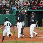 Tyler Saladino, Cory Spangenberg. The Missions beat the Sounds 5-3 Saturday at Wolff Stadium. - photo by Joe Alexander