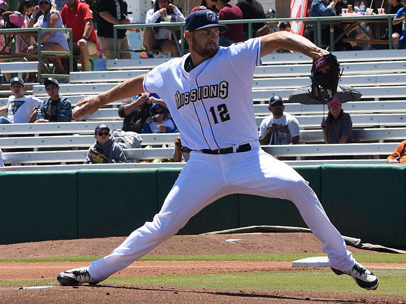 Adrian Houser. The Missions beat the Sounds 5-4 Sunday at Wolff Stadium. - photo by Joe Alexander