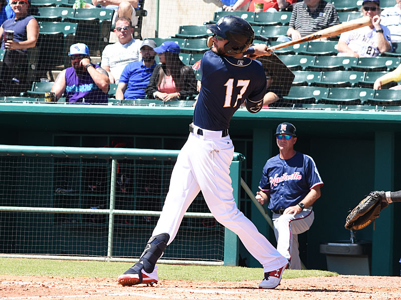 Lucas Erceg had two hits including a two-run homer. The Sounds beat the Missions 10-5 Monday at Wolff Stadium. - photo by Joe Alexander