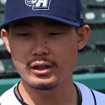 The Missions' Keston Hiura talks to members of the San Antonio media on Tuesday at Wolff Stadium. - photo by Joe Alexander