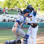 Oklahoma City Dodgers catcher Will Smith playing against the San Antonio Missions on Thursday at Wolff Stadium. - photo by Joe Alexander