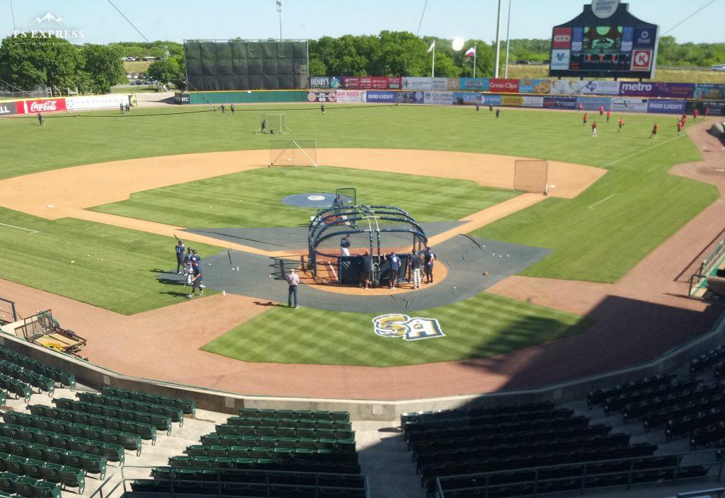 San Antonio Missions batting practice.