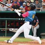 Corey Ray led off and played center field. The Memphis Redbirds beat the Flying Chanclas de San Antonio 6-3 Thursday at Wolff Stadium. - photo by Joe Alexander