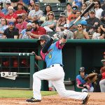 Nate Orf batted sixth and played left field. The Memphis Redbirds beat the Flying Chanclas de San Antonio 6-3 Thursday at Wolff Stadium. - photo by Joe Alexander