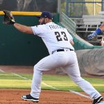 David Freitas. The Missions beat the Oklahoma City Dodgers 4-3 Friday at Wolff Stadium. - photo by Joe Alexander