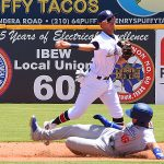 Mauricio Dubon. The Missions lost to the Dodgers 4-1 Sunday at Wolff Stadium. - photo by Joe Alexander