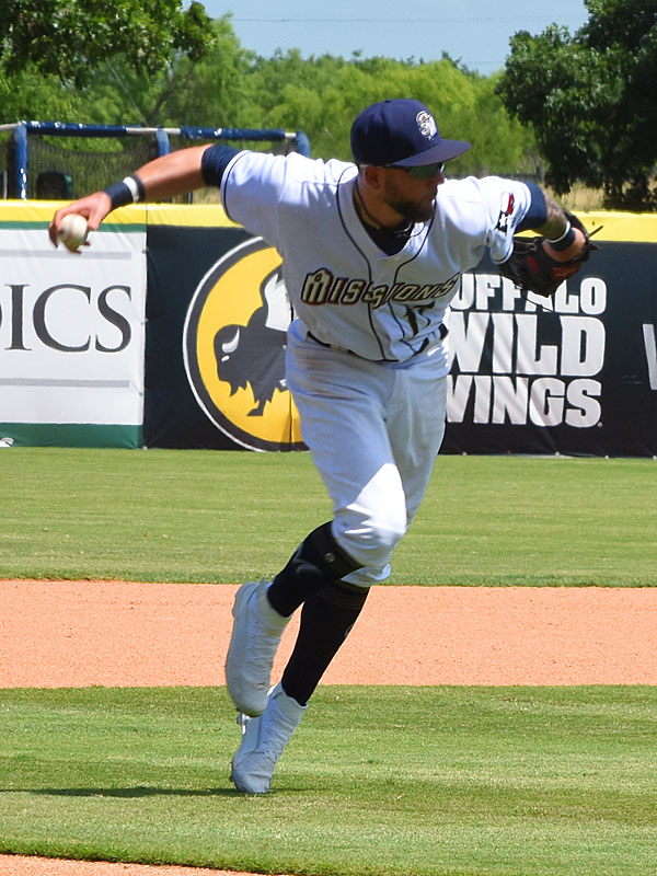 Lucas Erceg. The Missions lost to the Dodgers 4-1 Sunday at Wolff Stadium. - photo by Joe Alexander