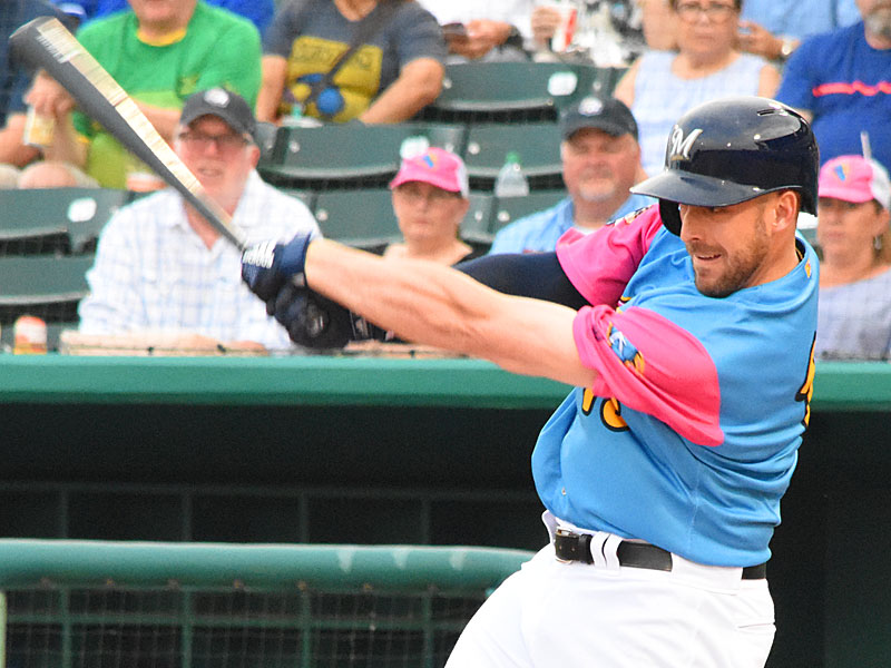 The Milwaukee Brewers' Travis Shaw playing for the San Antonio Missions on Thursday at Wolff Stadium. - photo by Joe Alexander