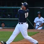 The Milwaukee Brewers' Travis Shaw playing for the San Antonio Missions against the Omaha Storm Chasers on Friday at Wolff Stadium. - photo by Joe Alexander