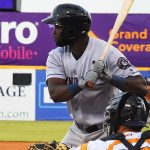 Yordan Alvarez of the Round Rock Express playing against the San Antonio Missions at Wolff Stadium. - photo by Joe Alexander