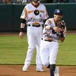 Mauricio Dubon. The Express beat the Missions 11-4 Saturday at Wolff Stadium. - photo by Joe Alexander