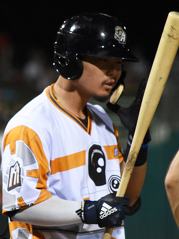 Keston Hiura hit home runs in the eighth and ninth innings against the Express on Saturday at Wolff Stadium. - photo by Joe Alexander