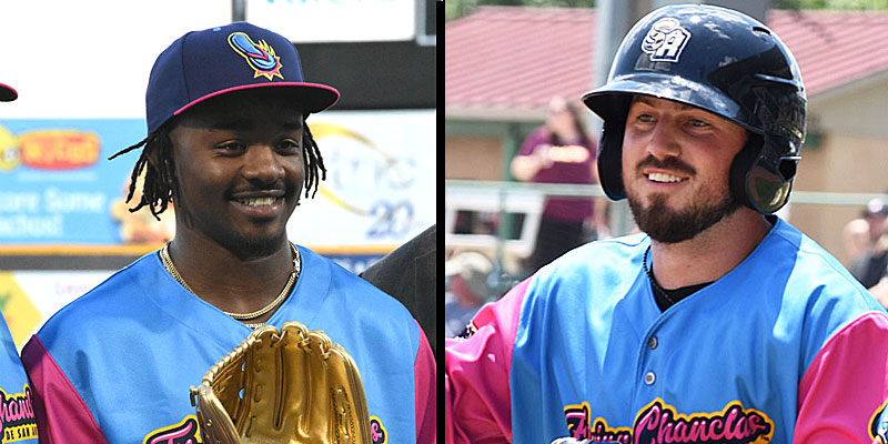San Antonio Missions' Troy Stokes Jr. and Blake Allemand.