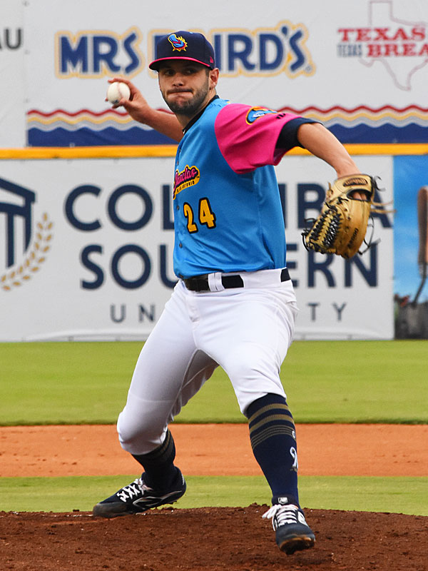 Missions pitcher Thomas Jankins got the win against New Orleans Baby Cakes on Thursday at Wolff Stadium. - photo by Joe Alexander
