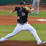 The San Antonio Missions' Aaron Wilkerson pitches against the Omaha Storm Chasers on Friday at Wolff Stadium. - photo by Joe Alexander