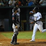 Troy Stokes Jr. scores the tying run for the Missions in the 12th inning on Saturday at Wolff Stadium. - photo by Joe Alexander