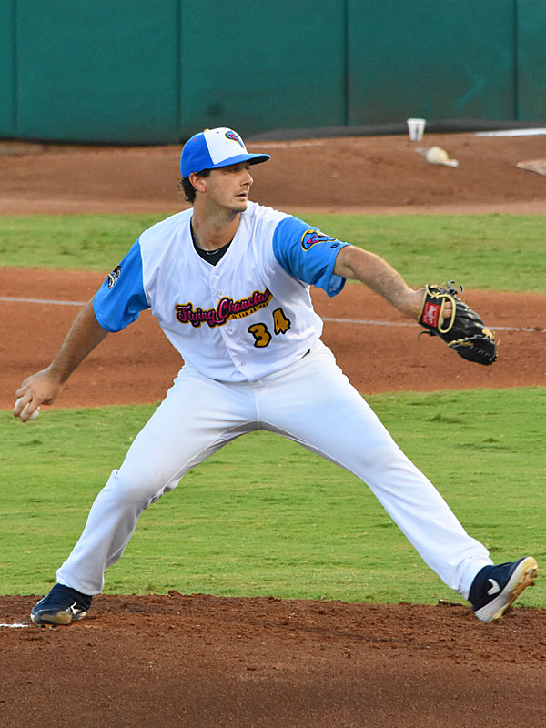 Missions starter Burch Smith pitched six innings and got the win against the Express on Thursday night at Wolff Stadium. - photo by Joe Alexander