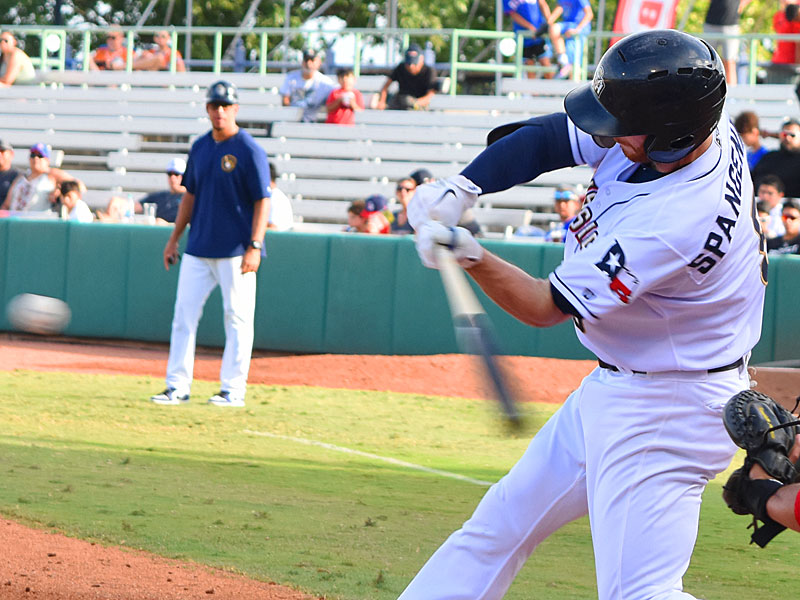 The San Antonio Missions' Cory Spangenberg hit his seventh home run of the season Sunday at Wolff Stadium, a solo shot in the fifth inning. - photo by Joe Alexander