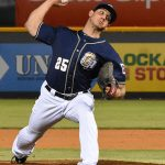 Jacob Barnes pitches for the San Antonio Missions at Wolff Stadium on May 7. - photo by Joe Alexander
