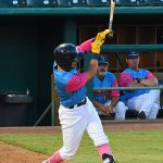 Mauricio Dubon hit a two-run homer in the third inning on Thursday at Wolff Stadium. - photo by Joe Alexander