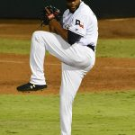 San Antonio Missions closer Jay Jackson pitching at Wolff Stadium. - photo by Joe Alexander