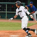 Missions shortstop Mauricio Dubon playing against the Iowa Cubs at Wolff Stadium. - photo by Joe Alexander
