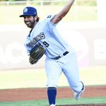 Milwaukee Brewers pitcher Gio Gonzalez made a rehab appearance with the San Antonio Missions on Monday at Wolff Stadium. - photo by Joe Alexander