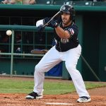 Travis Shaw playing for the San Antonio Missions on Wednesday night at Wolff Stadium. - photo by Joe Alexander